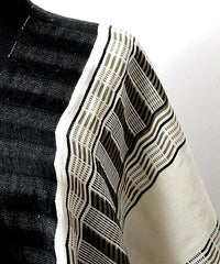 Horizontal style view of taabal White & Black Poncho
