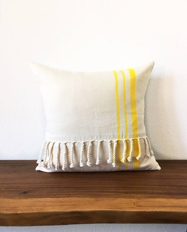Taabal Cords Throw Pillow front view
