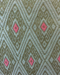 Taabal Green Throw Pillow detail view