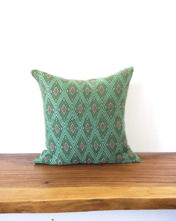 Taabal Green Throw Pillow front view