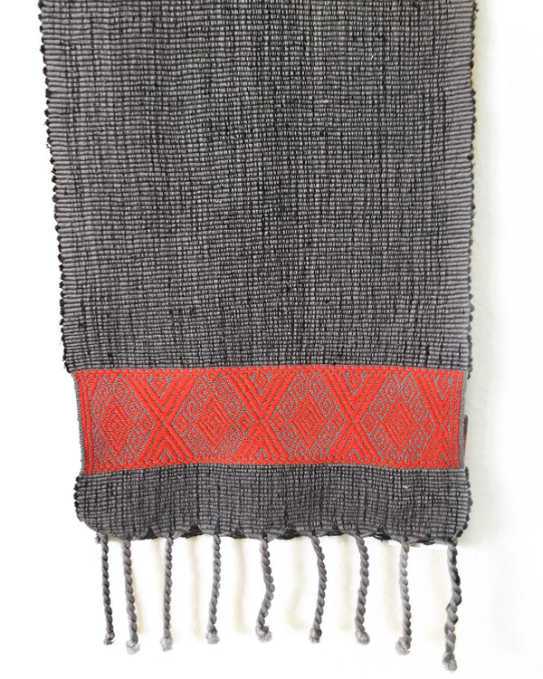 Taabal Rebozo Orange Color Shawl Wrap front view
