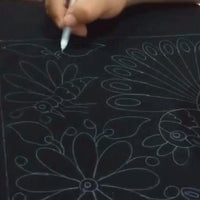 Hand drawn flowers to make embroidered bags