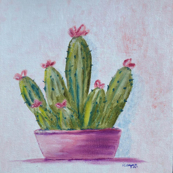 Cactus Oil Painting
