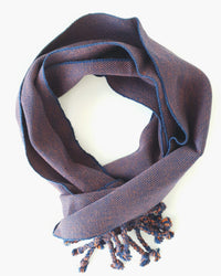 Cottom handmade navy scarf