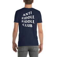 Zach Helmly's Anti Fiddle Fiddle Club Tee (Unisex: Black & Navy)