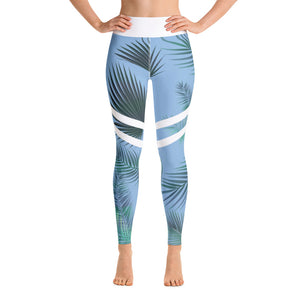 Tropical Brunch Yoga Pants (Blue)