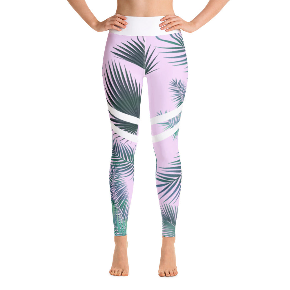 Tropical Brunch Yoga Pants (Pink)