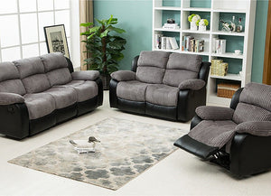 Concorde Recliner 3 + 1 Sofa Suite - Grey/Black