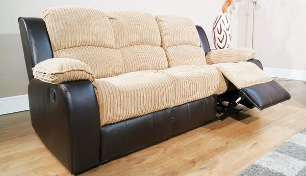 Concorde Recliner 3 + 1 Sofa Suite - Brown/Beige