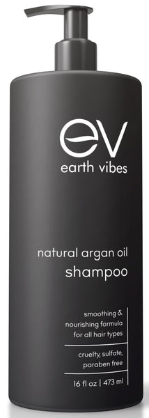Earth Vibes Argan Oil Shampoo Paraben, Sulfate & Cruelty free 16oz