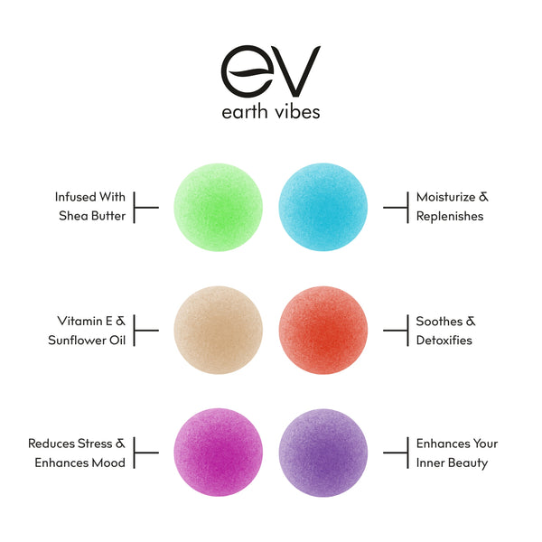 Earth Vibes 6 Piece Bath Bomb Set