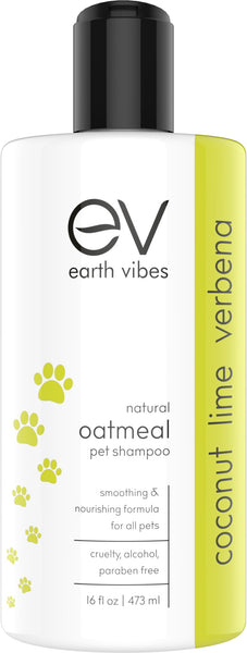 Earth Vibes Oatmeal Pet Shampoo (Coconut Lime Verbena) 16oz