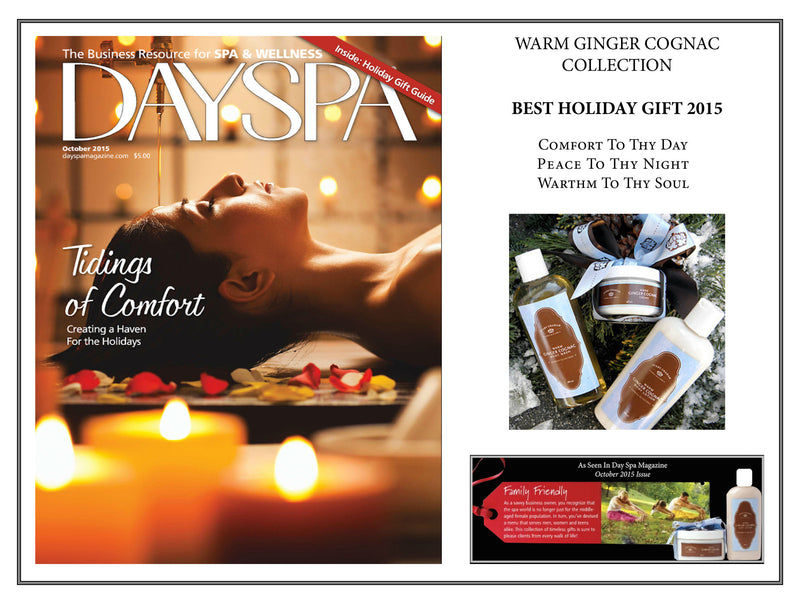 "DaySpa, ""Best Holiday Gift 2015"", October 2015"