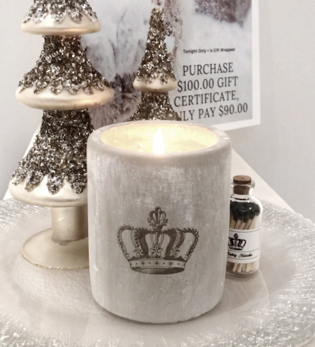 Crown Candle, Gift Wrapped!