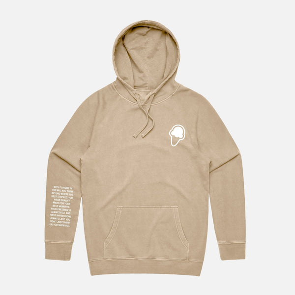 FLAVORS ESSENTIALS HOODIE - WASHED SAND - FLAVORS