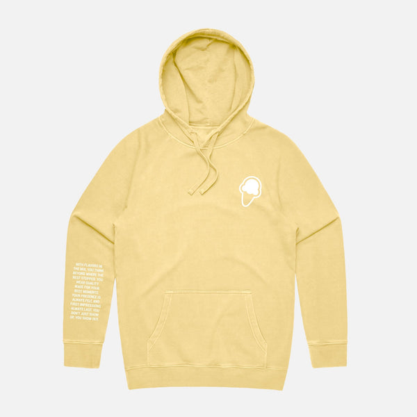 FLAVORS ESSENTIALS HOODIE - WASHED BUTTER - FLAVORS