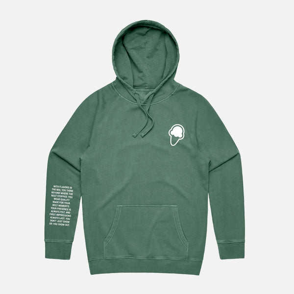 FLAVORS ESSENTIALS HOODIE - WASHED SAGE - FLAVORS