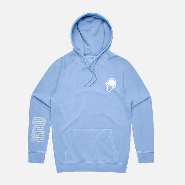 FLAVORS ESSENTIALS HOODIE - WASHED CAROLINA - FLAVORS
