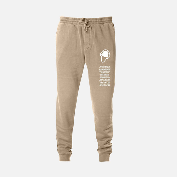 FLAVORS ESSENTIALS JOGGER - WASHED SAND - FLAVORS