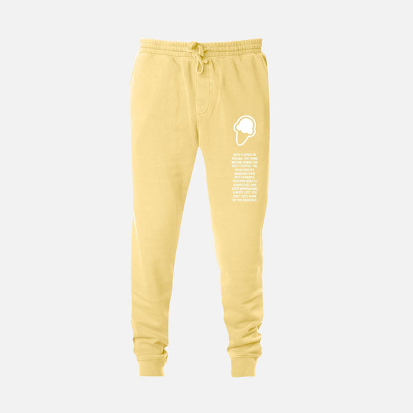 FLAVORS ESSENTIALS JOGGER - WASHED BUTTER - FLAVORS