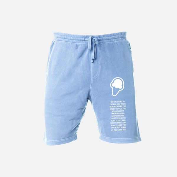 FLAVORS ESSENTIALS SWEATSHORT - WASHED CAROLINA - FLAVORS