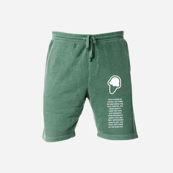 FLAVORS ESSENTIALS SWEATSHORT - WASHED SAGE - FLAVORS