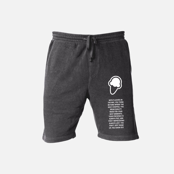 FLAVORS ESSENTIALS SWEATSHORT - WASHED BLACK - FLAVORS