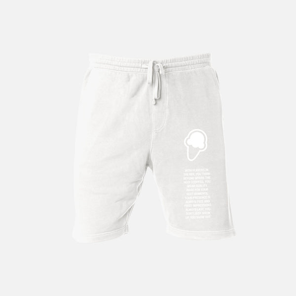 FLAVORS ESSENTIALS SWEATSHORT - WHITE - FLAVORS