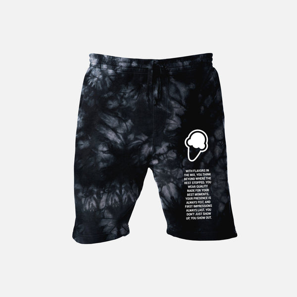 FLAVORS ESSENTIALS SWEATSHORT - BLACK SMOKE - FLAVORS