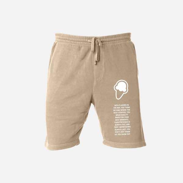 FLAVORS ESSENTIALS SWEATSHORT - WASHED SAND - FLAVORS