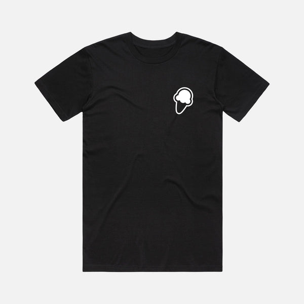 FLAVORS ESSENTIALS ICE CREAM TEE - BLACK - FLAVORS