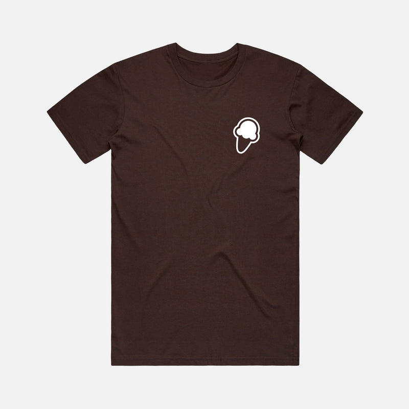 FLAVORS ESSENTIALS ICE CREAM TEE - BROWN - FLAVORS