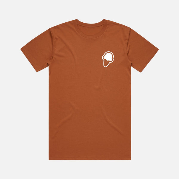 FLAVORS ESSENTIALS ICE CREAM TEE - COPPER - FLAVORS