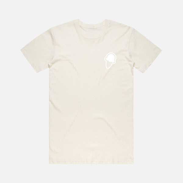 FLAVORS ESSENTIALS ICE CREAM TEE - CREAM - FLAVORS