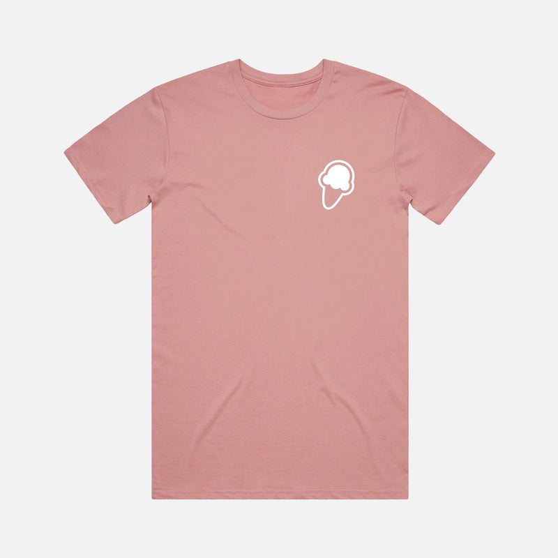 FLAVORS ESSENTIALS ICE CREAM TEE - MAUVE - FLAVORS