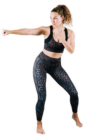 Whitney 7/8 Legging Bronze Leopard Mixed