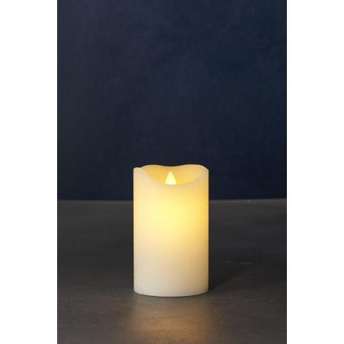 Sara Exclusive Led Candle Dia7.5 H12.5Cm Tealights & Holders