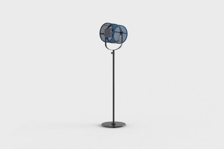 La Lampe Paris Carbon Black Frame & Cornflower Blue Shade Solar Light