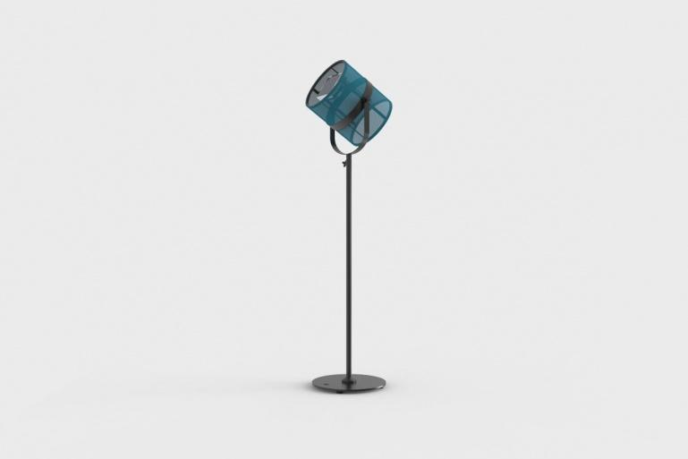 La Lampe Paris Carbon Black Frame & Cyan Shade Solar Light