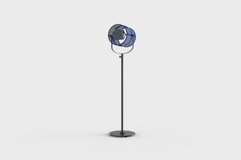 La Lampe Paris Carbon Black Frame & Navy Blue Shade Solar Light