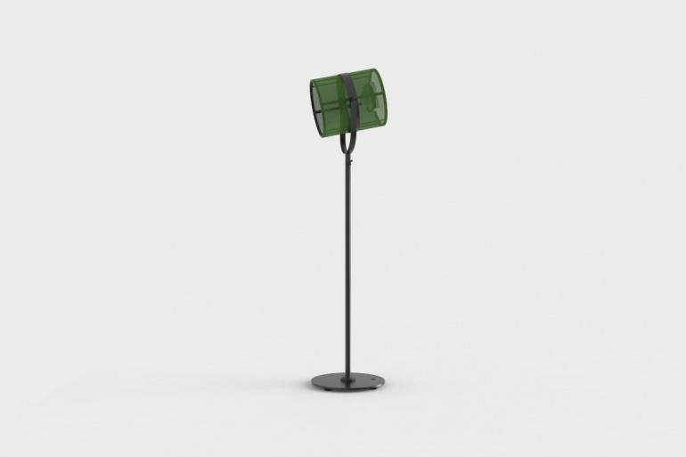 La Lampe Paris Carbon Black Frame & Spring Green Shade Solar Light