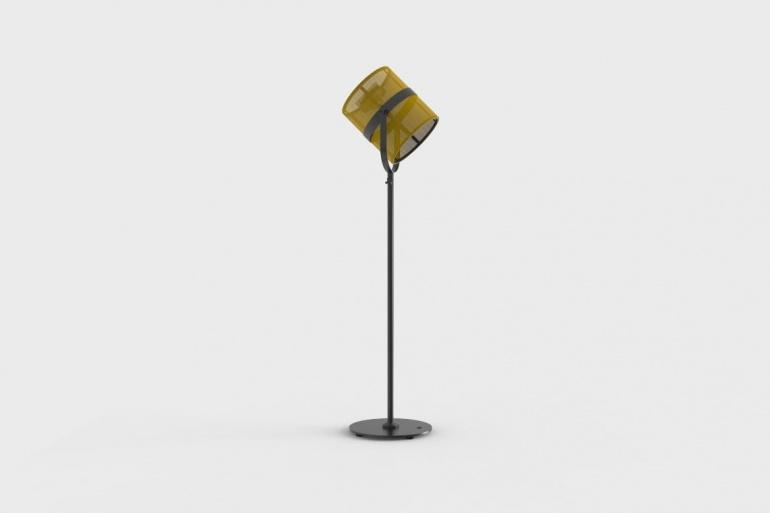 La Lampe Paris Carbon Black Frame & Lemon Shade Solar Light