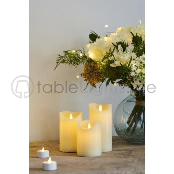 Sara Exclusive Led Candle Dia10 H20Cm Tealights & Holders
