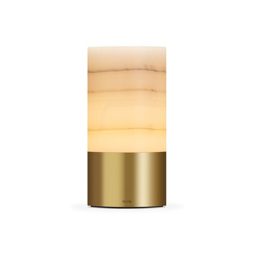 totem: alabaster natural brass