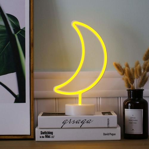 Neon Crescent Moon Light Decorative Lights
