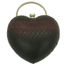Love Clutch (Burgundy Snake Print)