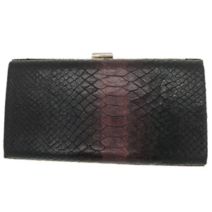 Hope Clutch (Burgundy Snake Print)