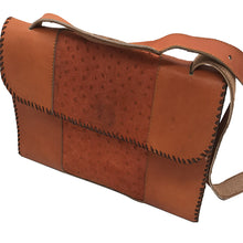 Vienna Bag (Orange Ostrich Print Calf Skin)