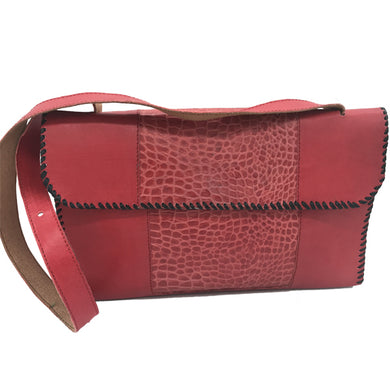 Vienna Bag (Fire Engine Red Crocodile Print Calf Skin)