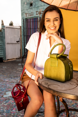IJ Box Bag (Available in Burgundy, Forest Green, Tan brown)